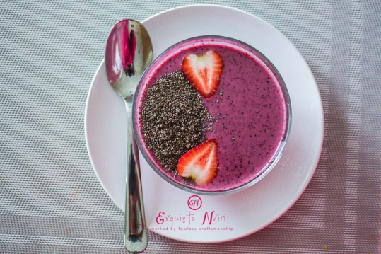 before mixing chia seeds