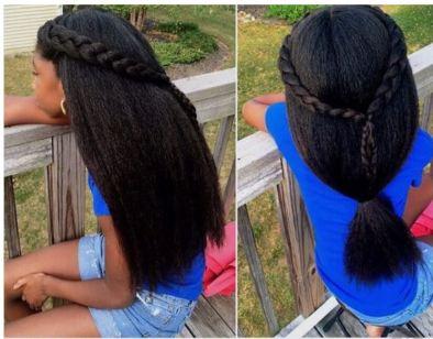 Beautiful and simple hairsyle @njb7nyc